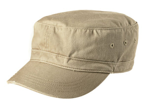 Khaki District® - Distressed Military Hat. DT605.