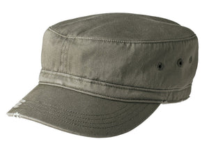 Olive District® - Distressed Military Hat. DT605.