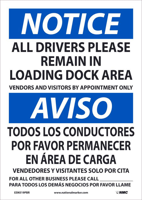 ESN519PBR NOTICE DRIVERS REMAIN BILINGUAL