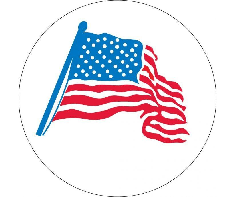 "Hard Hat Decals American Flag Graphic 2"" x 2"" Round - Global Construction Supply"