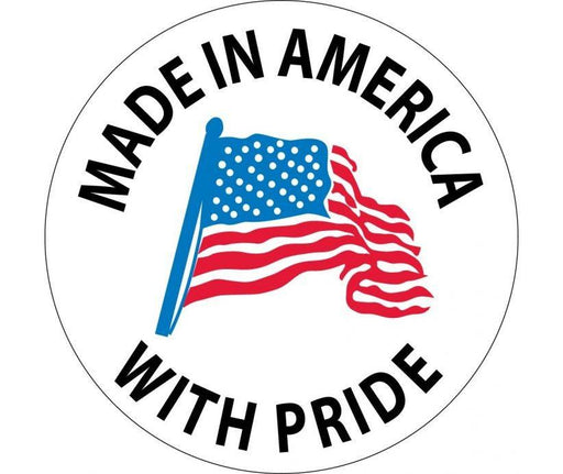 "Hard Hat Decals Made in America with Pride Flag Graphic 2"" x 2"" Round - Global Construction Supply"