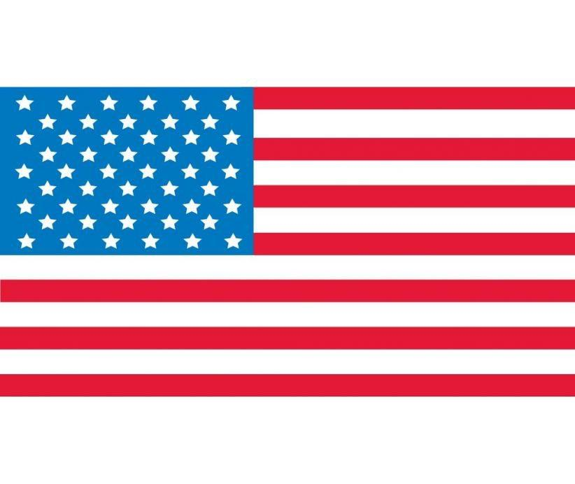 "Hard Hat Decals American Flag Graphic 0.88"" x 1.63"" Rectangle - Global Construction Supply"