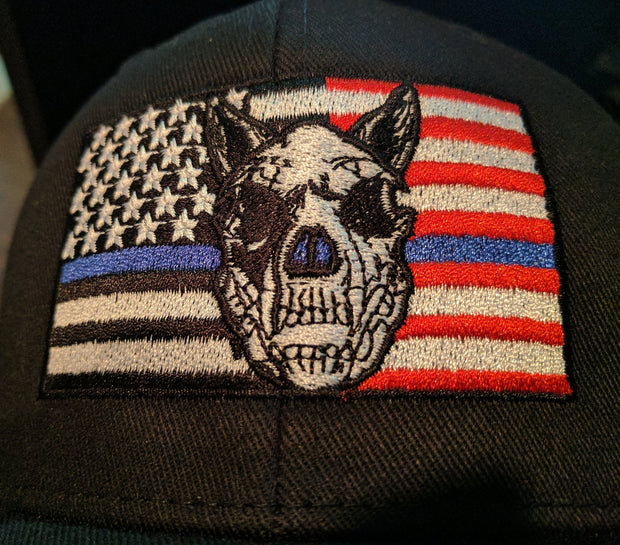 K9HPP PRE-ORDER The K9 Hero Portrait Project Twill K-9 Flag Hat Hook and Loop Closure - Global Construction Supply