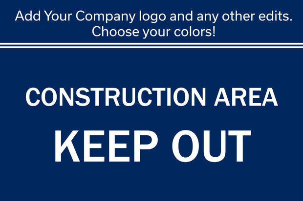 "24"" x 36"" Custom Sign With Your Company Name and Logo Graphic - Global Construction Supply"