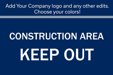 "16"" x 24"" Custom Sign With Your Company Name and Logo Graphic - Global Construction Supply"