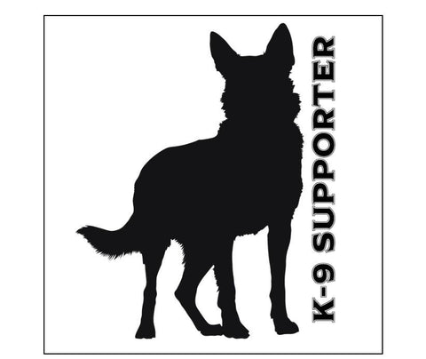 "K9 Supporter Custom Hard Hat Decal Graphic 2"" x 2"" Square - Global Construction Supply"