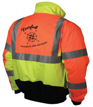 Kasigluk Custom Search and Rescue Safety Jacket Radians SJ12 Class 3 Weather Proof Multi-Color Bomber Jacket