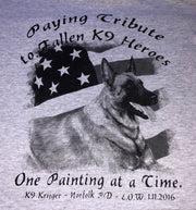 K9HPP PRE-ORDER K9 Hero Portrait Project K9 Krijger Short Sleeve Men's Crew T-Shirt - Global Construction Supply