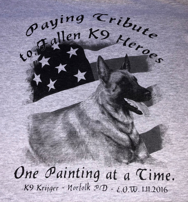 K9HPP PRE-ORDER K9 Hero Portrait Project K9 Krijger Long Sleeve Men's Crew T-Shirt - Global Construction Supply