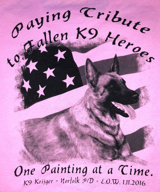 K9HPP PRE-ORDER K9 Hero Portrait Project K9 Krijger Long Sleeve Ladies V-Neck T-Shirt - Global Construction Supply