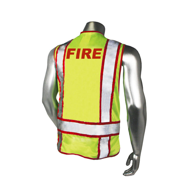 Back Radians LHV-207-3G-FIR Fire Fighter Safety Vest ANSI CL2