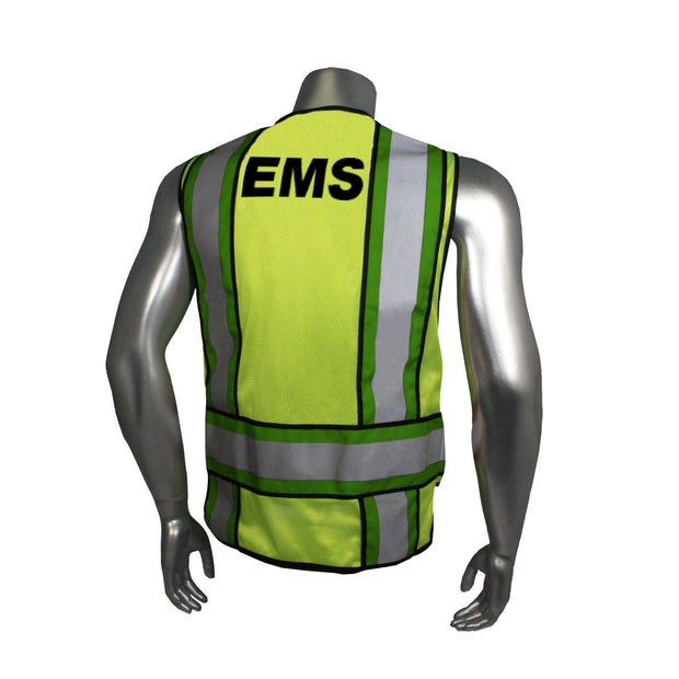 Back Radians LHV-207-4C-EMS EMS Safety Vest ANSI CL2