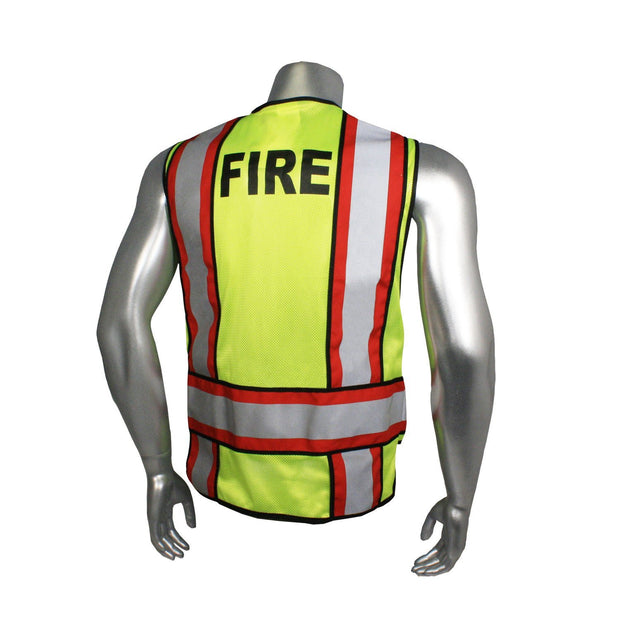 Back Radians LHV-207-4C-FIR Fire Fighter Safety Vest ANSI CL2