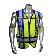 Green with Blue Trim Radians LHV-207-4C-POL Police Safety Vest ANSI CL2