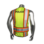 Back Green with Orange Trim Radians LHV-207-4C-POL Police Safety Vest ANSI CL2