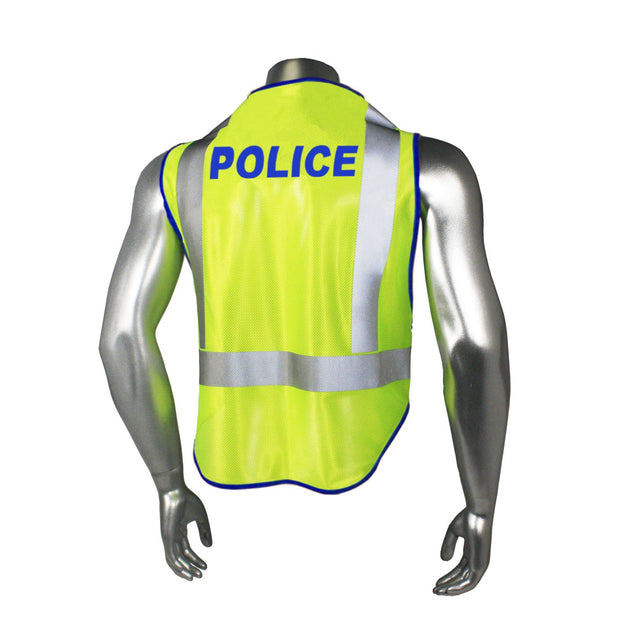 Back Radians LHV-5-PC-ZR-POL Police Safety Vest ANSI CL2