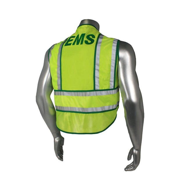 Back Radians LHV-207-SPT-EMS EMS Safety Vest ANSI CL2