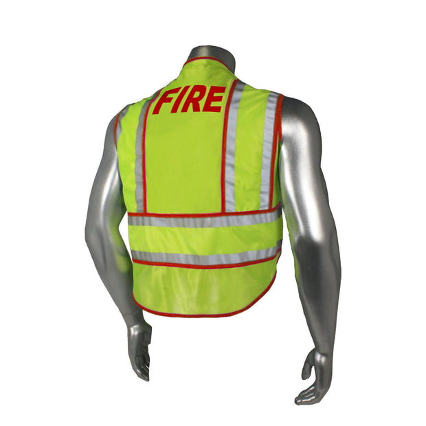 Back Radians LHV-207-SPT-FIR Fire Fighter Safety Vest ANSI CL2