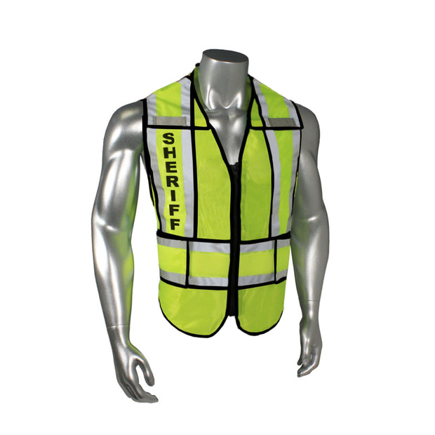 Radians Sheriff w/ Black Trim LHV-207-SPT-SHF Police Safety Vest ANSI CL2