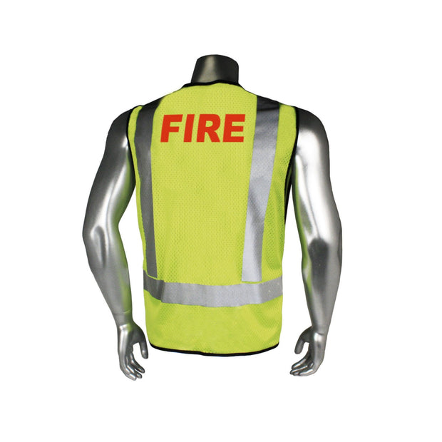 Back Radians LHV-5-PC-ZR-FIR Fire Fighter Safety Vest ANSI CL2