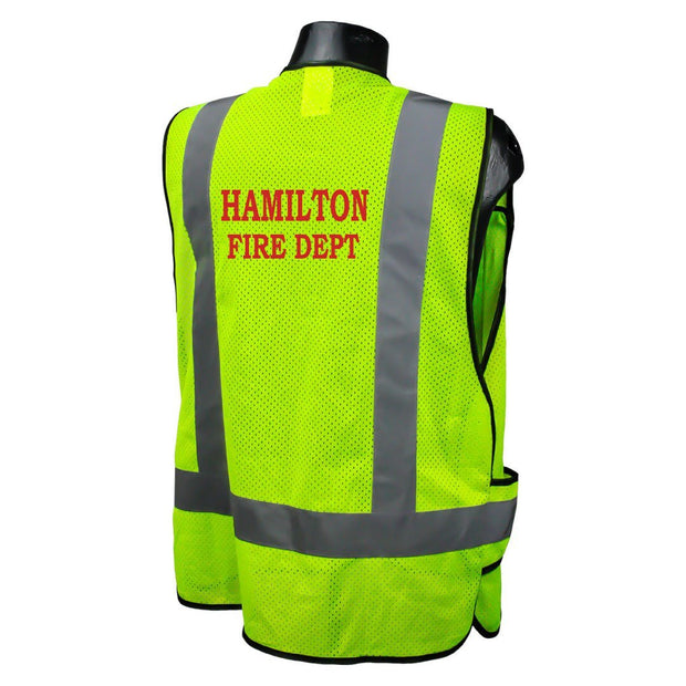Sample Custom Fire Fighter Safety Vest
