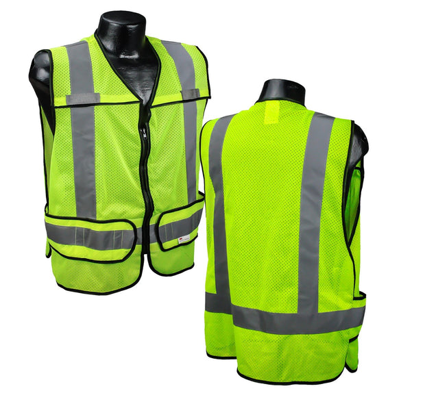 Radians LHV-5-PC-ZR-C Custom Fire Fighter Safety Vest ANSI CL2 with Your Logo