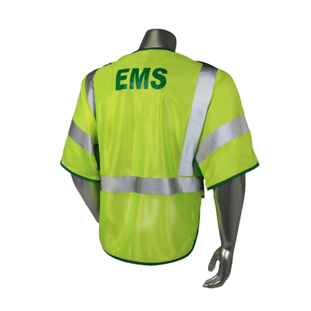 Back Radians LHV-PS3-DSZR-EMS EMS Safety Vest ANSI CL3