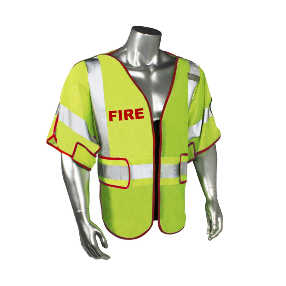 Radians LHV-PS3-DSZR-FR Custom Fire Fighter Safety Vest ANSI CL3: Global Construction Supply