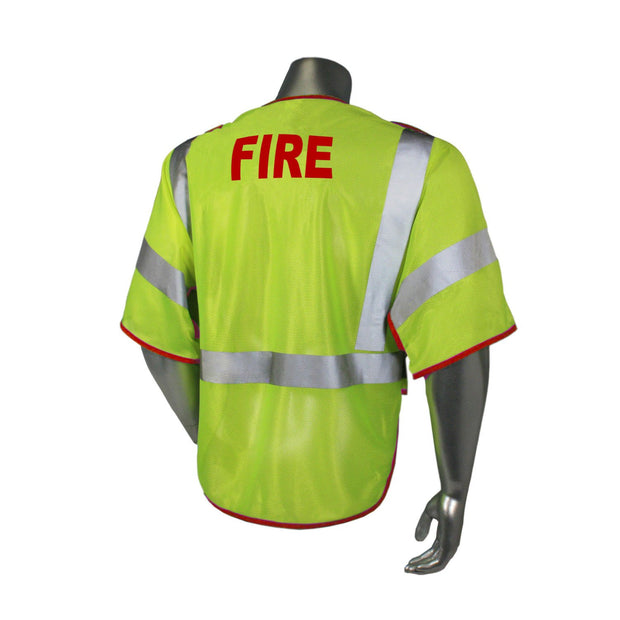 Back  Radians LHV-PS3-DSZR-FR Fire Fighter Safety Vest ANSI CL3