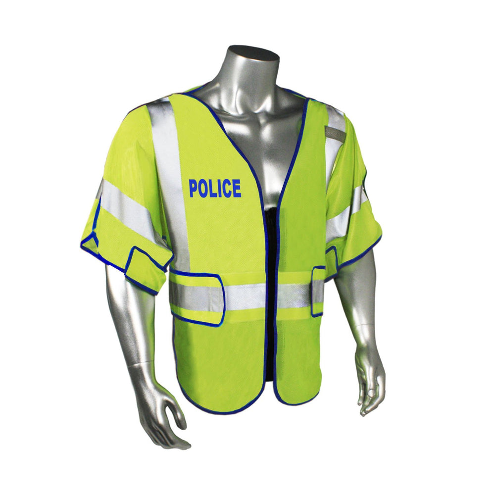 Radians LHV-PS3-DSZR-POL Custom Police Safety Vest ANSI CL3: Global Construction Supply