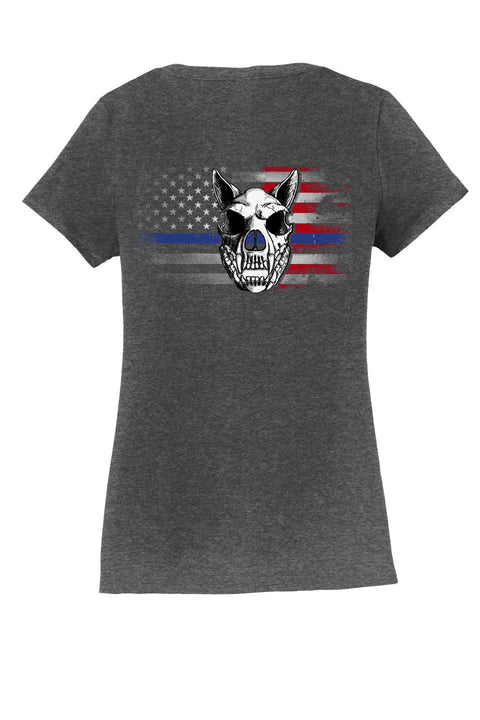 K9HPP PRE-ORDER Hero Portrait Project Short Sleeve Ladies V-Neck T-Shirt - Global Construction Supply