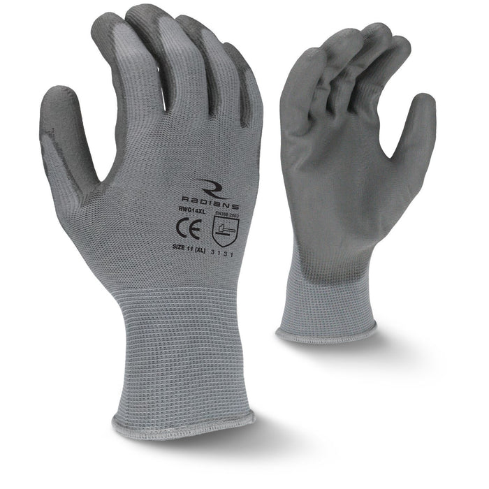 Radians RWG14 PU Palm Coated Gloves (DOZEN): Global Construction Supply