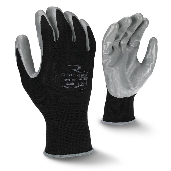 Radians RWG15 Smooth Nitrile Palm Coated Gloves (DOZEN): Global Construction Supply