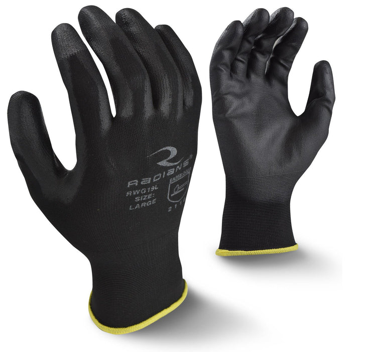 Radians RWG19 Touchscreen PU Palm Coated Gloves (DOZEN): Global Construction Supply
