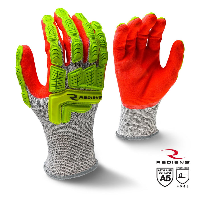 Radians RWG603 HPPE Cut Protection Sandy Foam Nitrile Gloves (PAIR): Global Construction Supply