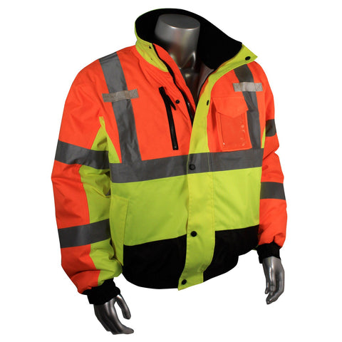 Kasigluk Custom Search and Rescue Safety Jacket Radians SJ12 Class 3 Weather Proof Multi-Color Bomber Jacket - Global Construction Supply