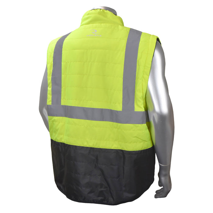 Radians SJ510 Quilted Reversible Jacket with Zip-Off Sleeves: Global Construction Supply