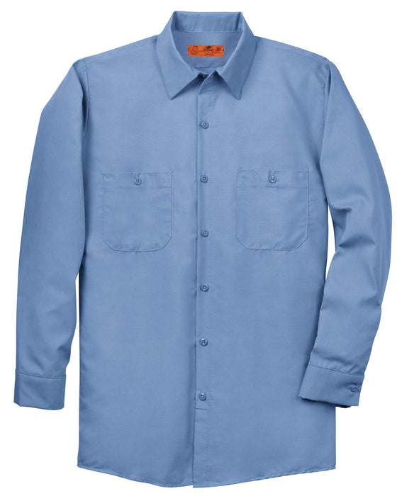 Red Kap SP14 Long Sleeve Industrial Work Shirt: Global Construction Supply