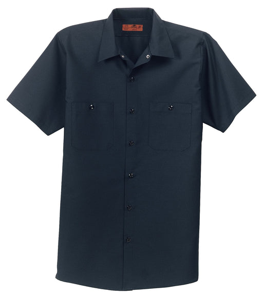 Red Kap SP24 Short Sleeve Industrial Work Shirt: Global Construction Supply
