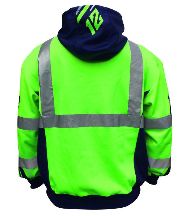 SafetyShirtz - SS360 Seattle 12 Class 3 Safety Hoodie Safety Green: Global Construction Supply