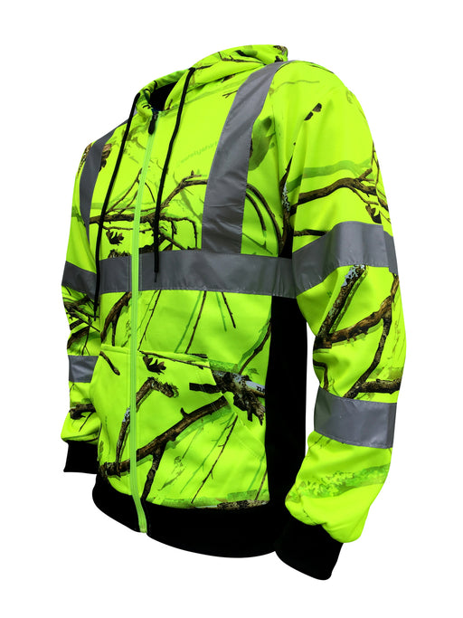 SafetyShirtz - SS360 Backwoods Camo Safety Zip-Up Hoodie - Class 3