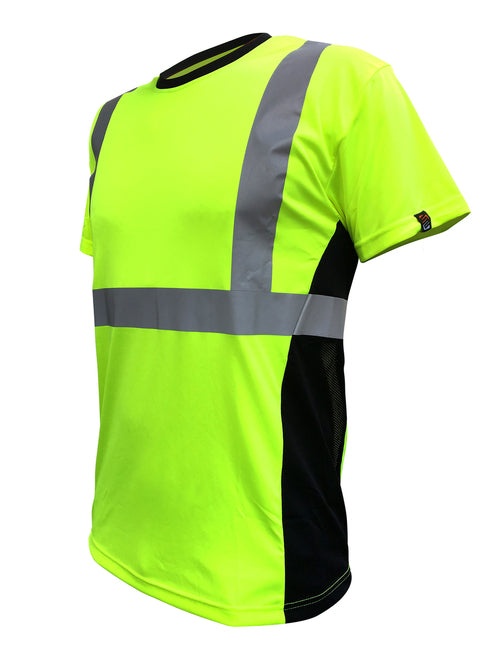 SafetyShirtz - SS360º ANSI Class 2 Safety Tee Yellow (safety green) w/ Vented Sides