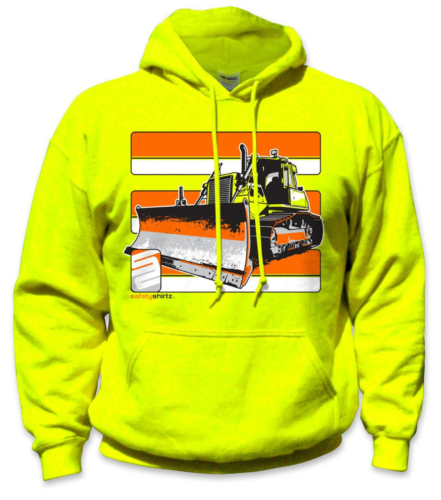 SafetyShirtz - Bulldozer Safety Hoodie - Yellow/Orange: Global Construction Supply