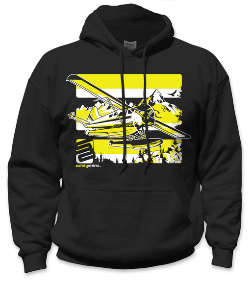 SafetyShirtz - Float Plane Safety Hoodie - Yellow/Black