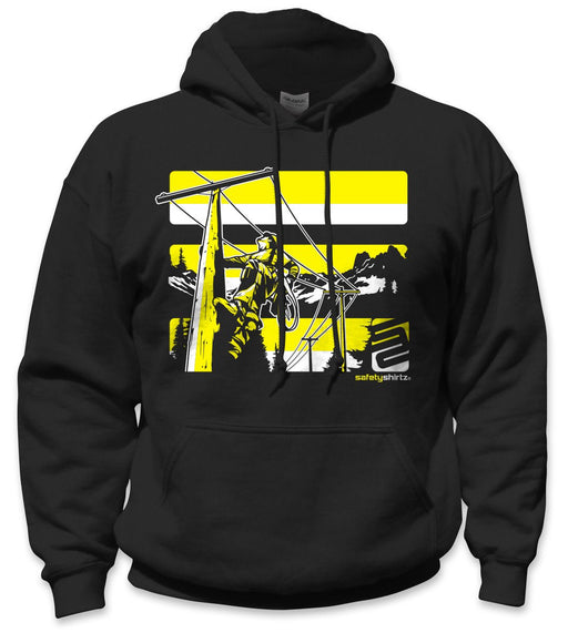 SafetyShirtz - Lineman Safety Hoodie - Yellow/Black: Global Construction Supply