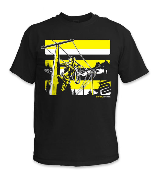 SafetyShirtz - Lineman Safety Shirt- Yellow/Black: Global Construction Supply