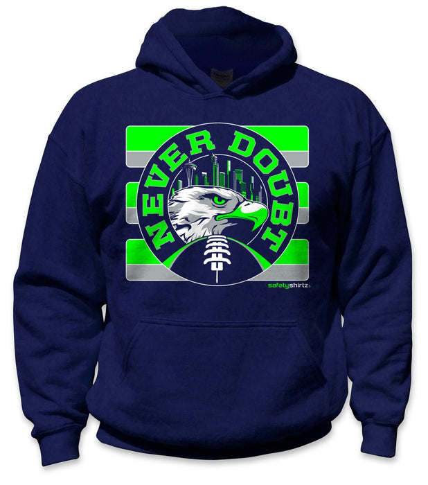 SafetyShirtz - Never Doubt Safety Hoodie - Green/Gray/Navy: Global Construction Supply