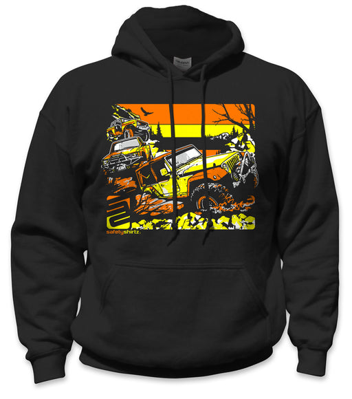 SafetyShirtz - Off Road Safety Hoodie - Orange/Yellow/Black
