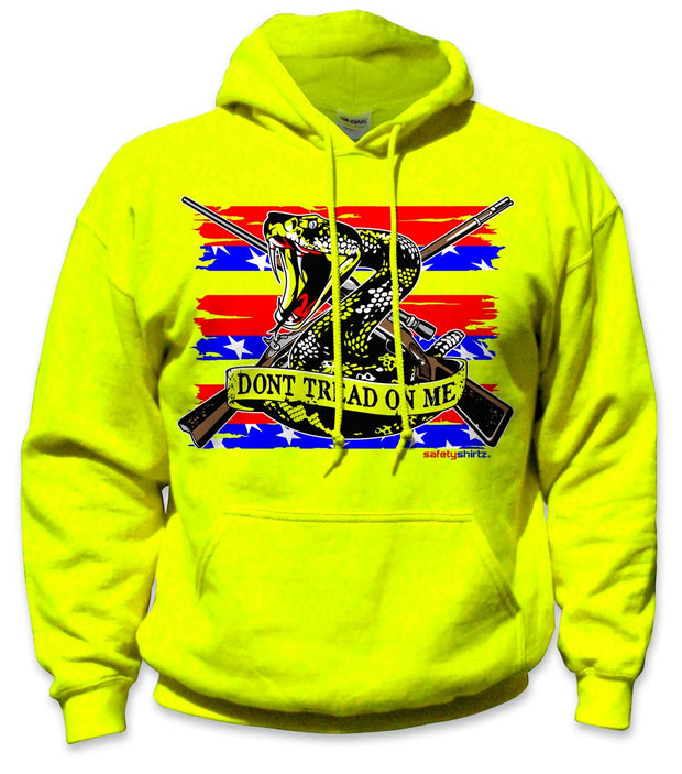 SafetyShirtz - Patriot Safety Hoodie - Red/Blue/Yellow: Global Construction Supply