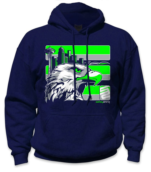 SafetyShirtz - Seattle Safety Hoodie - Green/Gray/Navy: Global Construction Supply